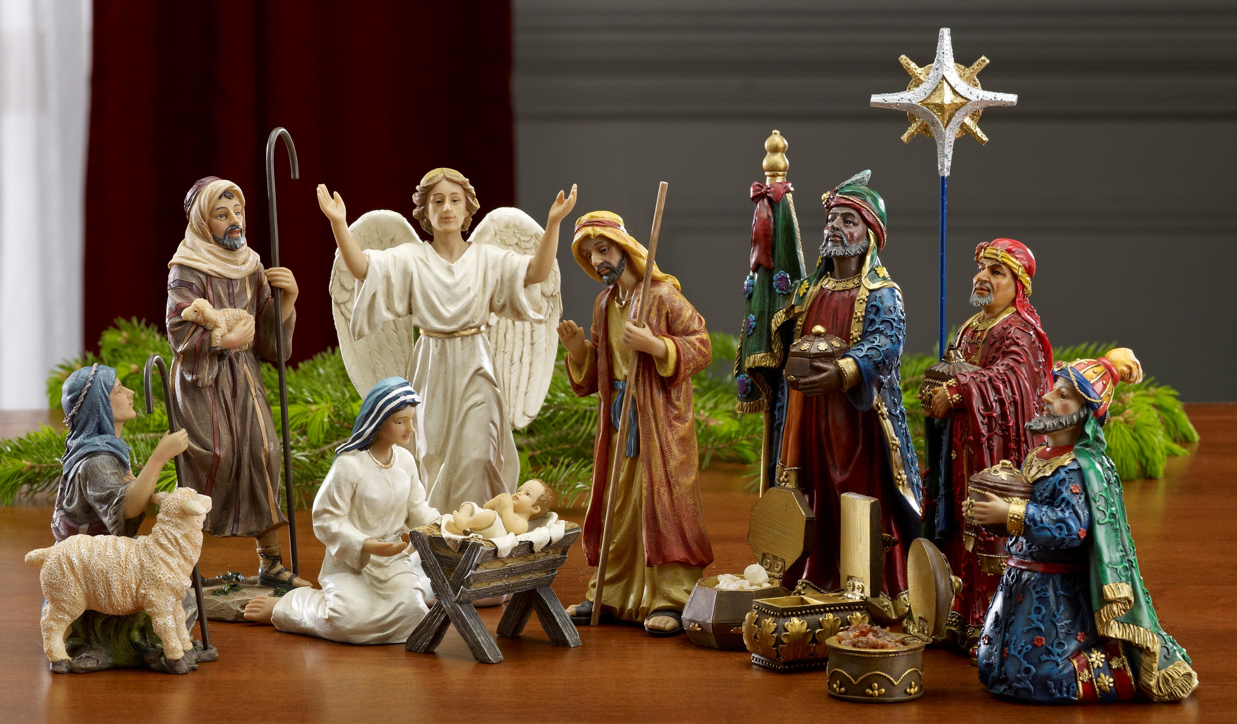 Animal Figurines Home Decor 7 Inch Real Life Nativity